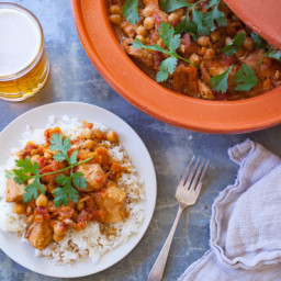 Easy Crock Pot Moroccan Chicken, Chickpea and Apricot Tagine