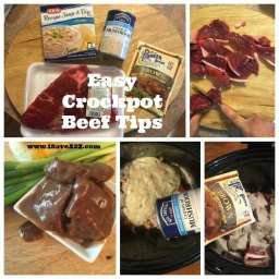 Easy Crockpot Beef Tips Recipe