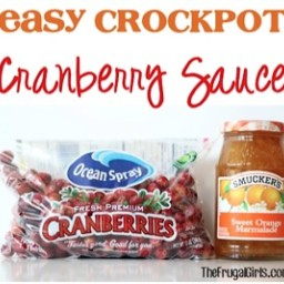 Easy Crockpot Cranberry Sauce Recipe