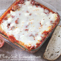 {Easy Dinner Recipe} Ravioli Lasagna