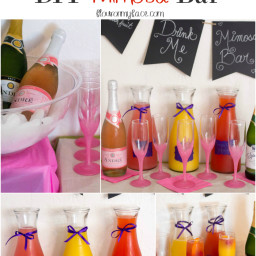 Easy DIY Mimosa Bar