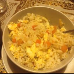 Easy Egg Fried Vegetable Rice