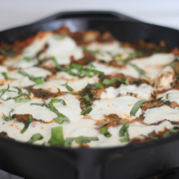 Easy, Fast Lasagna in a Cast Iron Skillet