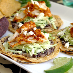 Easy Fish Tacos with Cilantro-Lime Slaw
