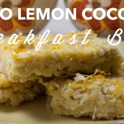 Easy Freezer Recipes: Paleo Lemon Coconut Breakfast Bars