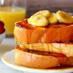 Easy French Toast with Caramelized Bananas