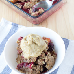 Easy Fresh Peach Blackberry Crisp