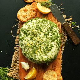 Easy Garlic and Herb Vegan Cheese