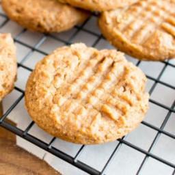Easy Gluten Free Peanut Butter Cookies (Vegan, GF, Dairy-Free, Refined Suga