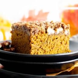 Easy Gluten Free Vegan Pumpkin Coffee Cake Recipe (Dairy-Free, V, GF, Refin