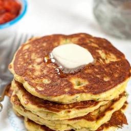 Easy Gluten Free Zucchini Pancakes