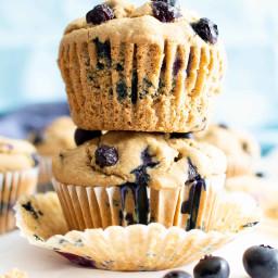 Easy Healthy Blueberry Muffins Recipe – Moist Gluten Free Vegan Blueberry M