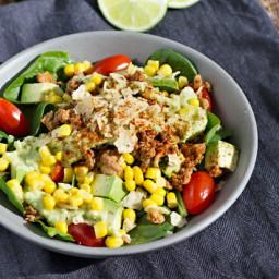 Easy Healthy Taco Salad w/ Ground Turkey
