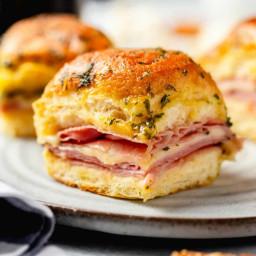 Easy Hot Ham and Cheese Sliders