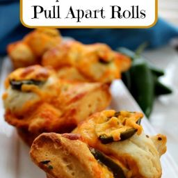Easy Jalapeno Cheddar Pull Apart Rolls