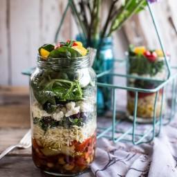 Easy Layered Mediterranean Orzo Pasta Salad
