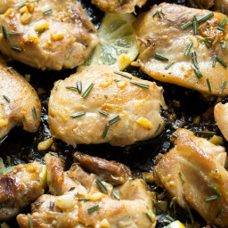 Easy Lemon Garlic Chicken Thighs {Paleo and Whole30}