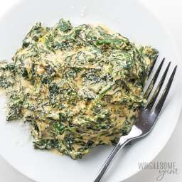 Easy Low Carb Keto Creamed Spinach Recipe