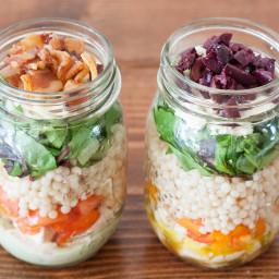 Easy Mason Jar Couscous Salad
