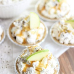 Easy Mini Caramel Apple No Bake Pies Recipe