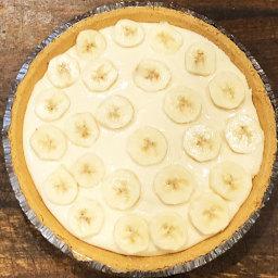 {easy} No Bake Banana Breeze Pie