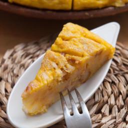 Easy No-Flip Spanish Tortilla (Tortilla Espanola) Potato Omelette Recipe