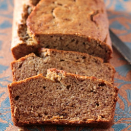 Easy No Mixer Banana Bread