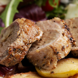 Easy One-Pan Pork Tenderloin Dinner With Apples And Onion Recipe by Tasty