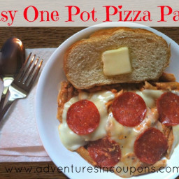 Easy One Pot Pizza Pasta - Quick Budget Dinner Idea!