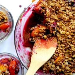 Easy Peach Blueberry Crisp