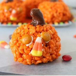 Easy Pumpkin Krispies Treats