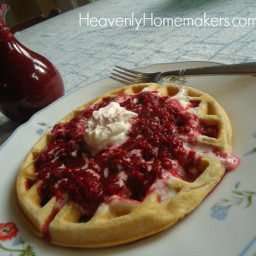 Easy Raspberry Pancake and Waffle Syrup Recipe - Two Ingredients!