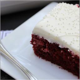 Easy Red Velvet Poke Cake | w/ Cream Cheese Filling & Best Ever Cream Chees