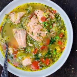 Easy Salmon Soup