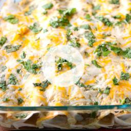 Easy Salsa Verde Chicken Enchiladas Recipe