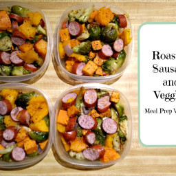 Easy Sausage and Roasted Veggies