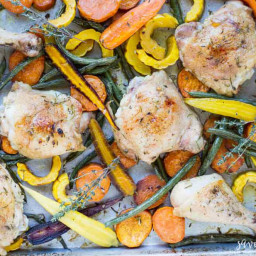 Easy Sheet Pan Chicken with Roasted Vegetables