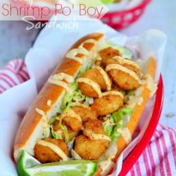 Easy Shrimp Po' Boy Sandwich