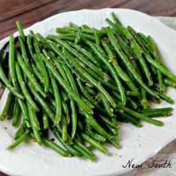 Easy Skillet Green Beans
