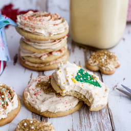 Easy Slice 'n' Bake Vanilla Bean Christmas Sugar Cookies