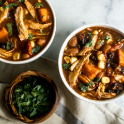 Easy Slow Cooker Chipotle Chicken Chili