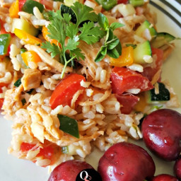 Easy Southwestern Chicken and Brown Rice Salad