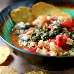 Easy Spinach Tomato Cannellini Bean Soup