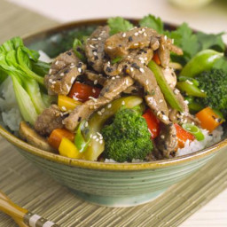Easy Stir-Fry Beef with Bok Choy and Mushrooms