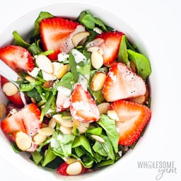 Easy Strawberry Spinach Salad Recipe With Poppy Seed Dressing