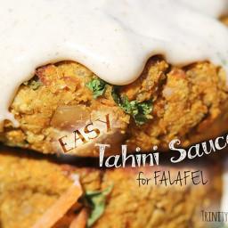 Easy Tahini Sauce for Falafel