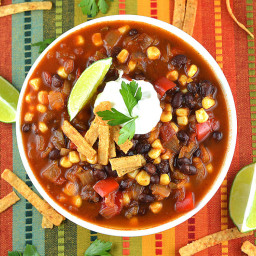 Easy Tortilla Soup {Vegan}