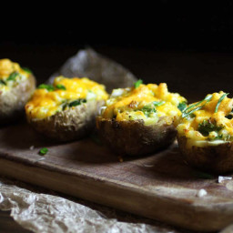 Easy Twice Baked Potatoes with Broccoli 'n Cheese