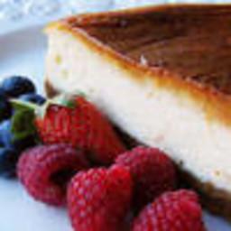 Easy Vanilla Protein Cheesecake