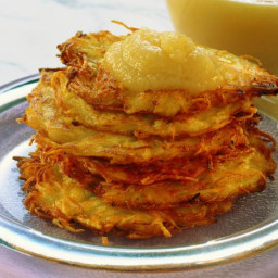 Easy Vegan Latkes with Egg Substitute